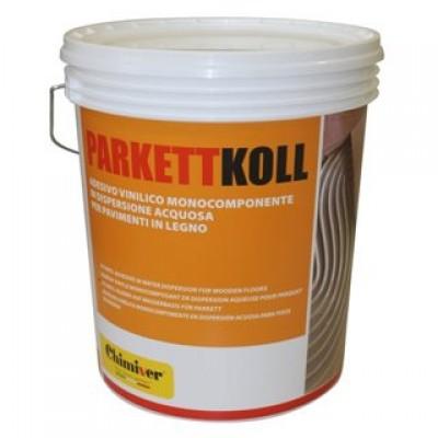 Клей однокомпонентный, виниловый Chimiver PARKETTKOLL TOP RU (Паркеткол Топ Ру) на основе синтетических смол и водной дисперсии