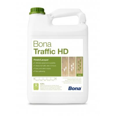 Двухкомпонентный, воднодисперсионный паркетный лак Bona Traffic HD (Бона Траффик HD, полуматовый) (4,95л)