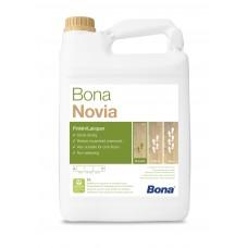 Однокомпонентный, воднодисперсионный паркетный лак Bona Novia (Бона Новия, полуматовый)  (5л)