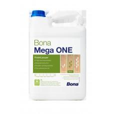 Однокомпонентный, воднодисперсионный паркетный лак Bona Mega One (Бона Мега One, полуматовый) (5л)