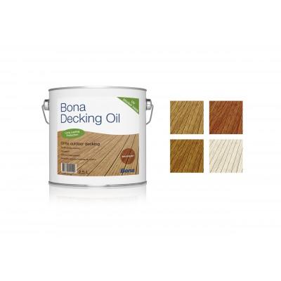 Bona Decking oil (Бона Декинг ойл) Цветное масло для террас серое\махагон (2,5 л)